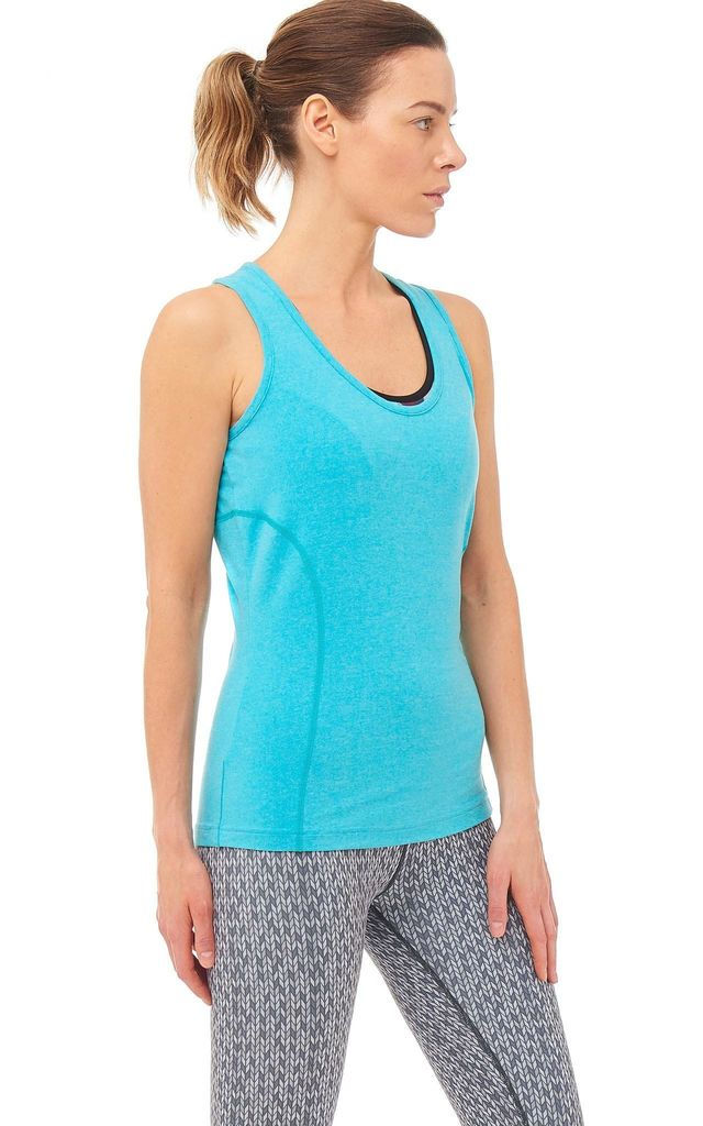 Dynamo Gym Vest In Turquoise by Boudavida