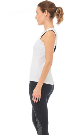Dynamo Gym Vest In White by Boudavida