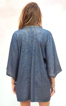 Vintage traditional Japanese two tone kimono jacket by Colour Me Vintage