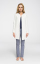 Longline collarless jacket in white by MOE