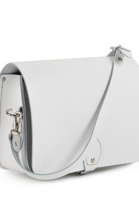 Riley Saddle Bag White by Gweniss
