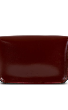 Charlotte Satchel M - Oxblood Patent by Gweniss
