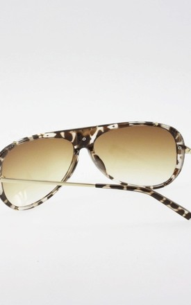 Textured Animal Print Faux Leather Oval Sunglasses by Urban Mist