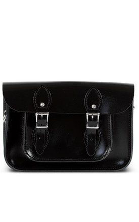 Charlotte Satchel S   Black Patent by Gweniss Product photo