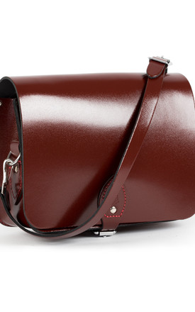 Riley Saddle Bag Oxblood Patent by Gweniss Product photo