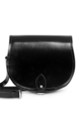 Avery Saddle Bag Black Patent by Gweniss