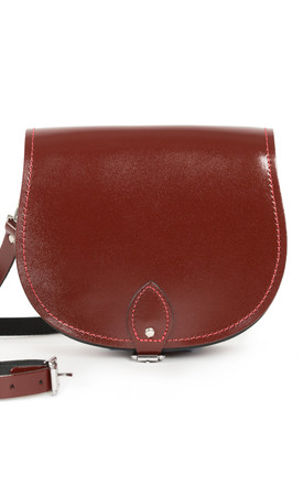Avery Saddle Bag Oxblood Patent by Gweniss Product photo