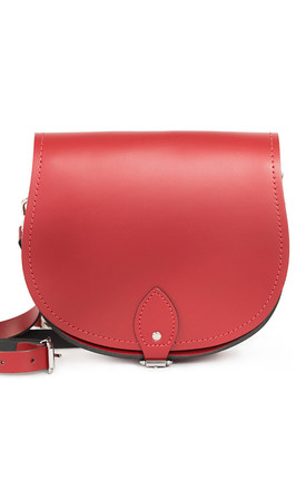 Avery Saddle Bag Scarlet Red by Gweniss Product photo