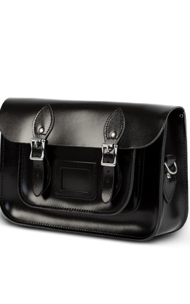 Charlotte Satchel M Black Patent by Gweniss Product photo