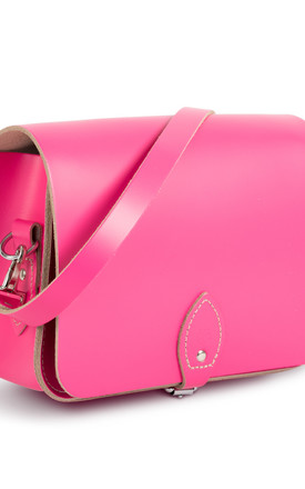 Riley Saddle Bag Bright Pink by Gweniss Product photo