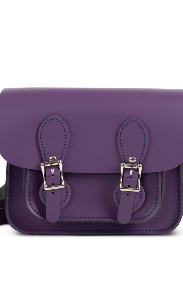 Freya Mini Satchel Aubergine by Gweniss