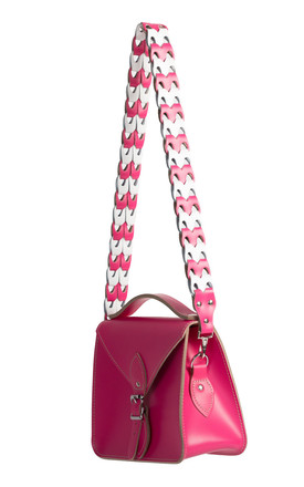 Isla Shoulder Strap Bright Pink/White by Gweniss Product photo
