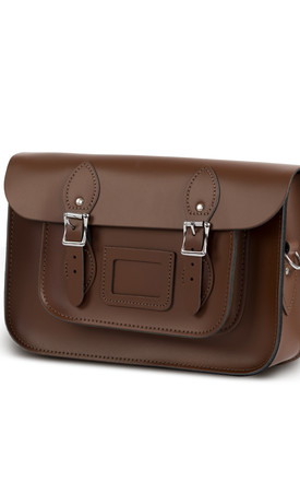 Charlotte Satchel M Dark Brown by Gweniss Product photo