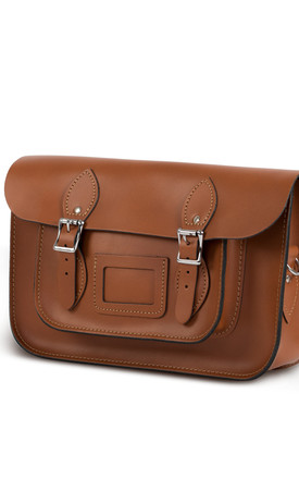 Charlotte Satchel M Dark Tan by Gweniss Product photo