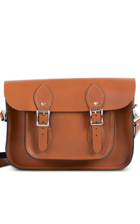 Charlotte Satchel S Dark Tan by Gweniss Product photo