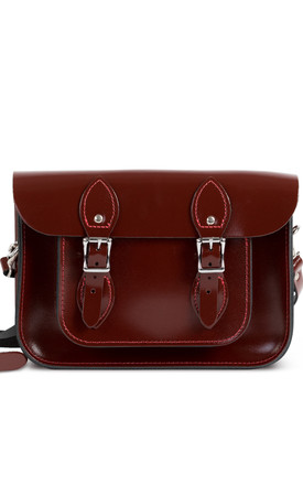 Charlotte Satchel S Oxblood Patent by Gweniss Product photo