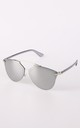 Grey Mirror Lens Aviator Sunglasses by Urban Mist