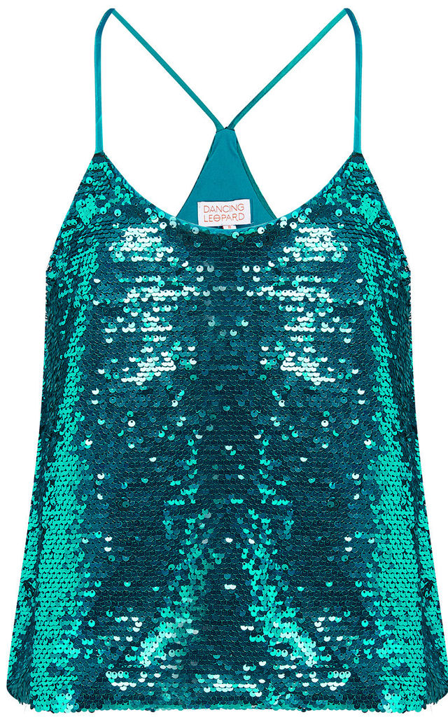 COSMOS CAMI TOP IN TEAL image