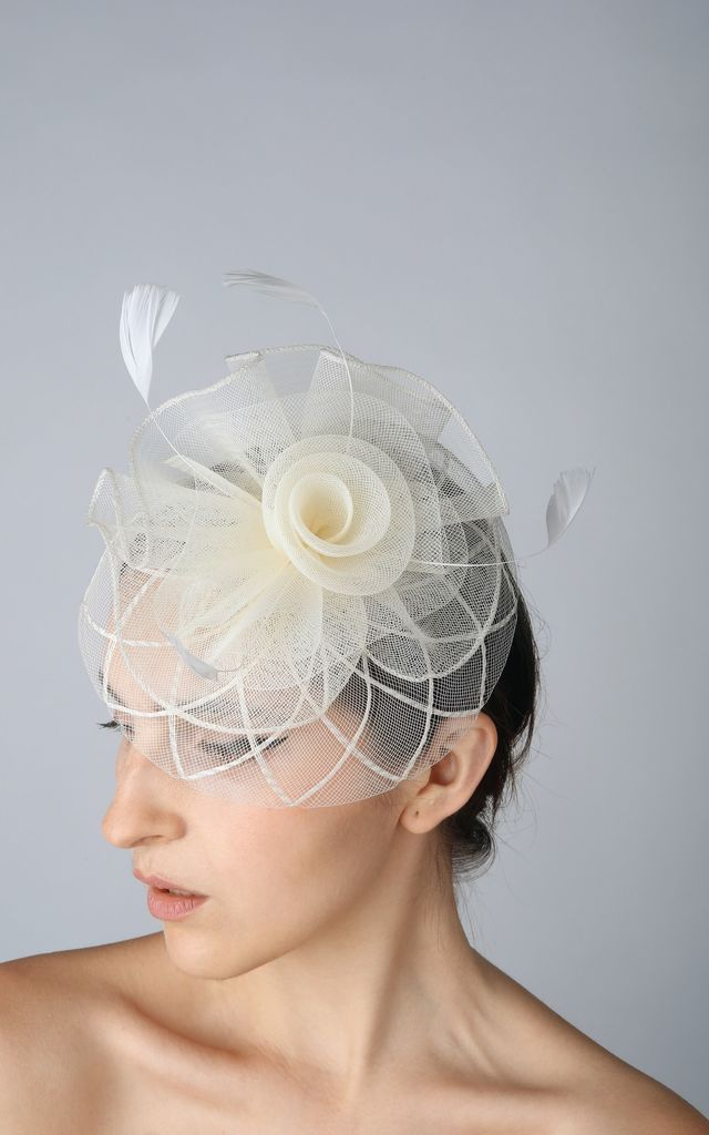 ... Vintage Style Fascinator in Cream by Ruby Rocks Accessories 95c8d41a7f2