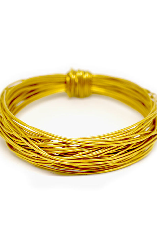 GOLD Wire Bangle by Black and Sigi Limited