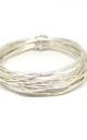 SILVER Stacking Wire Bangle by Black and Sigi Limited