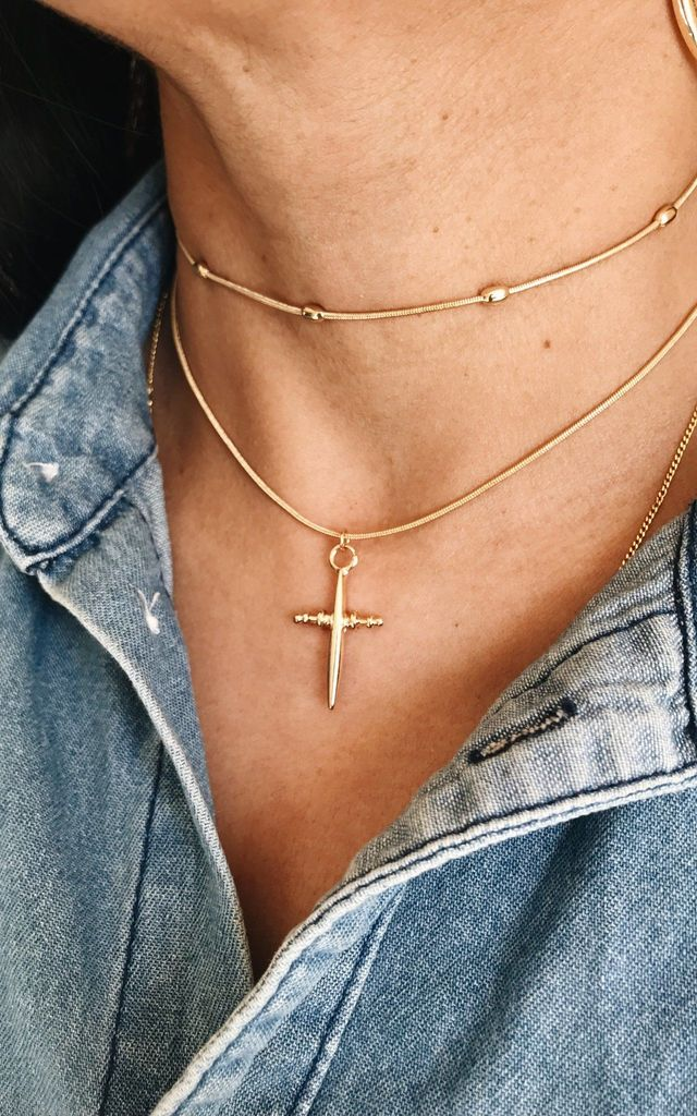 Dagger Double Layer Necklace by Ajouter Store