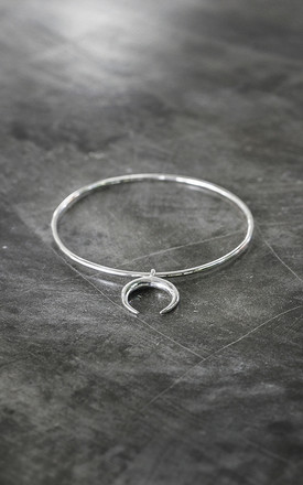 MOON CHARM BANGLE in SILVER by Amai jewellery