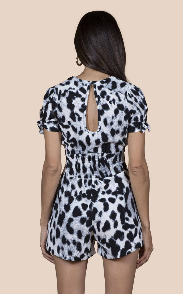 JUNO PLAYSUIT IN GREY LEOPARD image