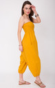 2 in 1 Cotton Harem Trouser or Bandeau Jumpsuit Mustard by likemary