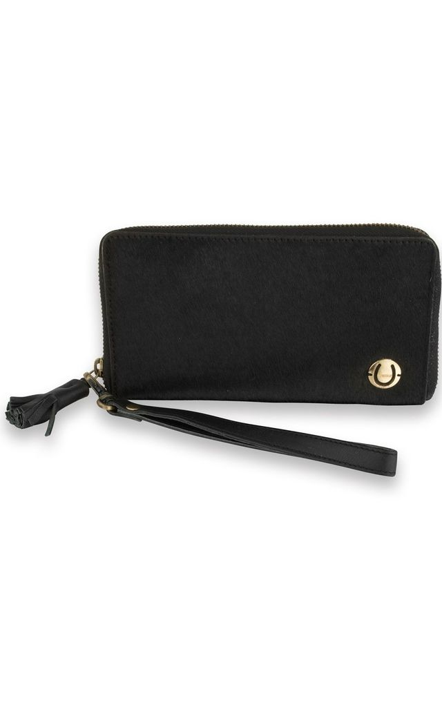 Zip Around Town purse in black by The Foundry Design