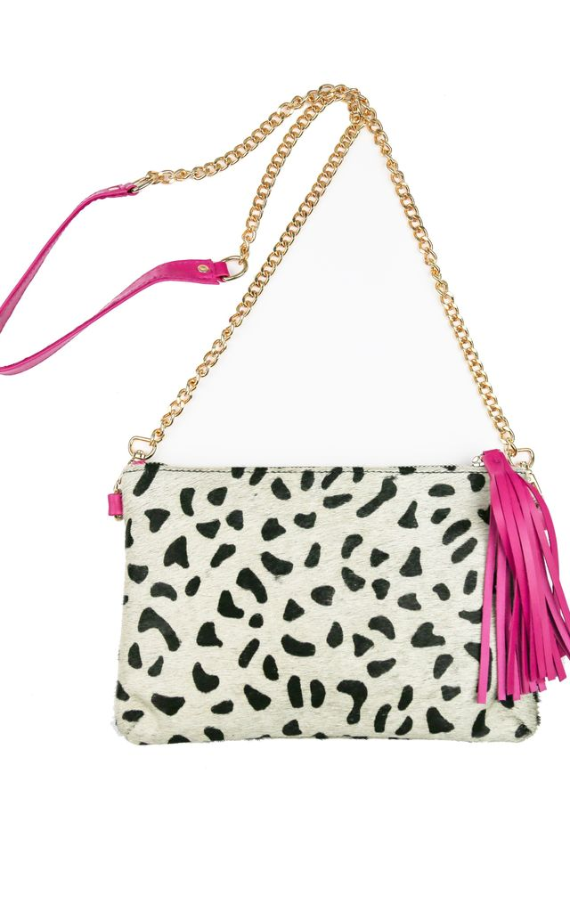 Marcia tassel pouch - Dalmatian print by The Foundry Design