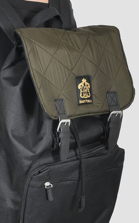 Quilted Khaki Laptop Backpack by The Left Bank