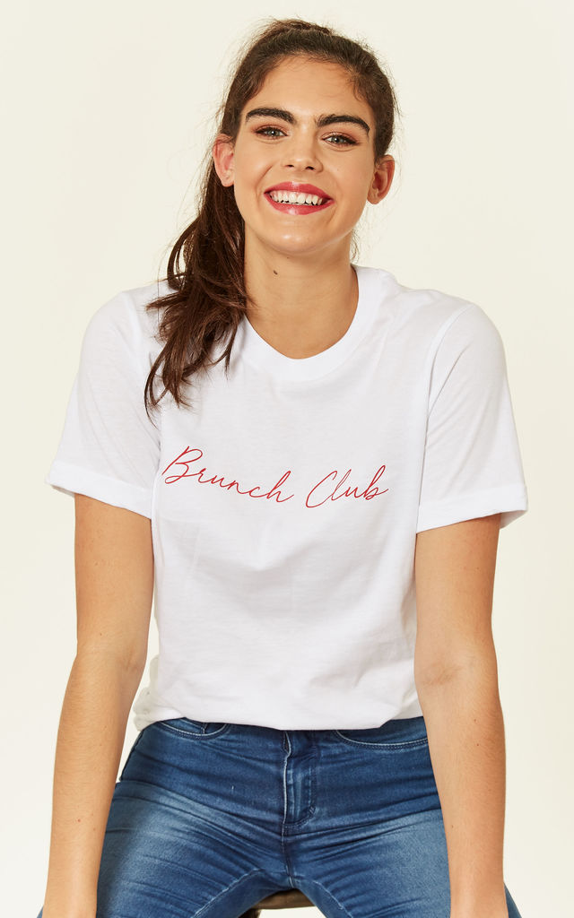 Brunch Club White T Shirt by Shop SilkFred