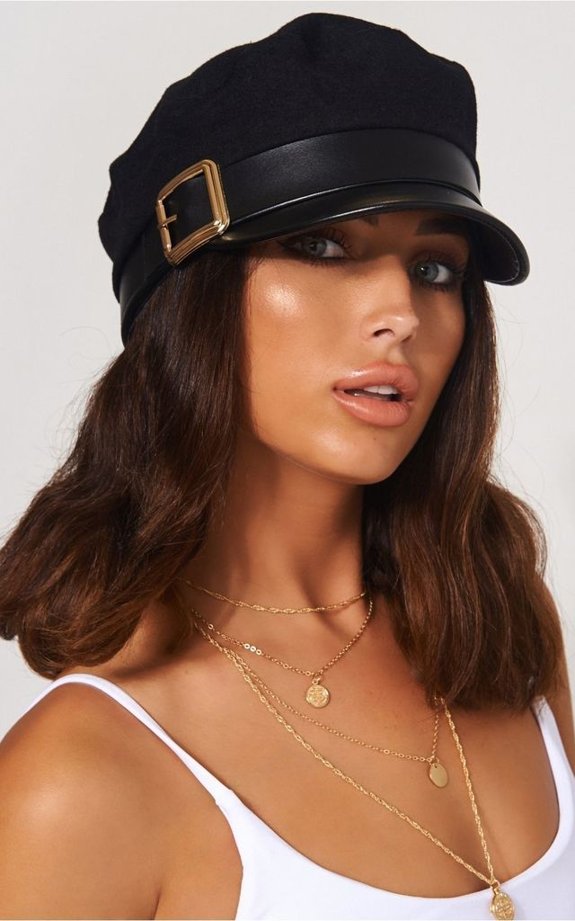 ... Gold Buckle Baker Boy Hat by The Fashion Bible ... 2eac8fc6ee2