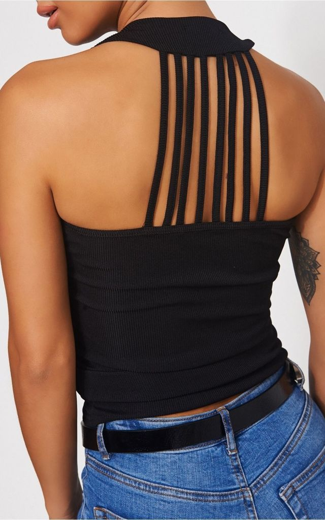 Black Round Neck Vest Top by The Fashion Bible