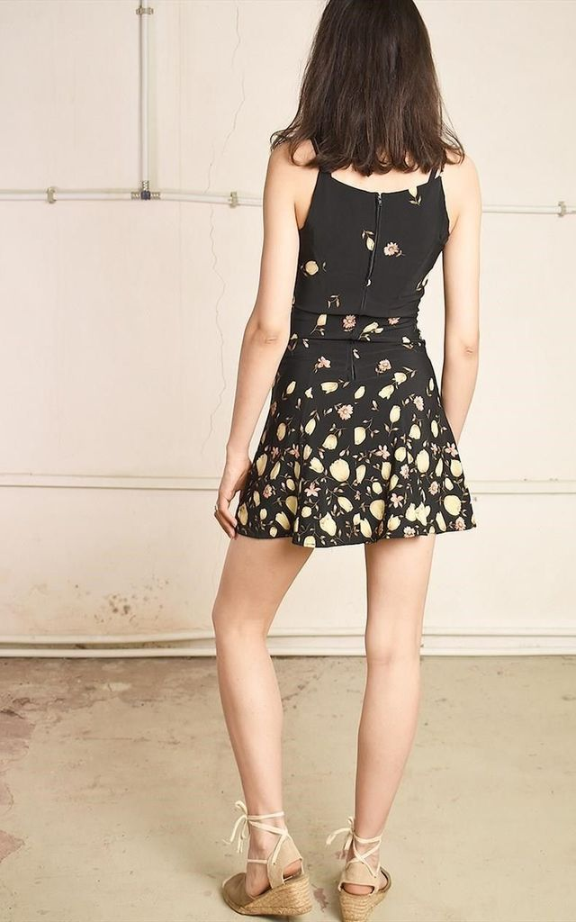 Y2K retro floral print festival Paris chic mini dress by Lover