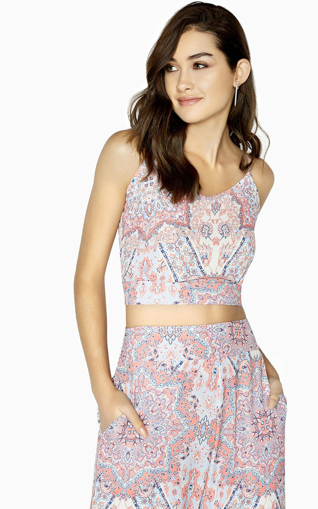 Florence Paisley Cami Crop Top by Girls On Film