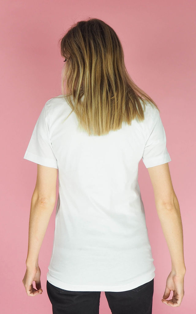 Literally T shirt in White Black by Rock On Ruby