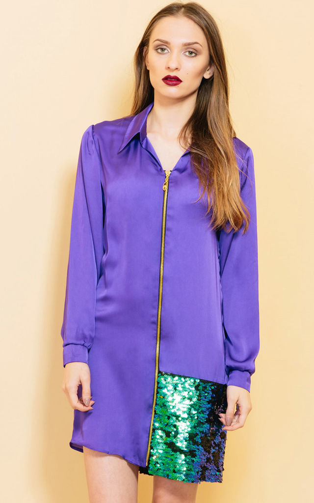 We Can Have Deja-vu Shirt Dress by KITES AND BITES
