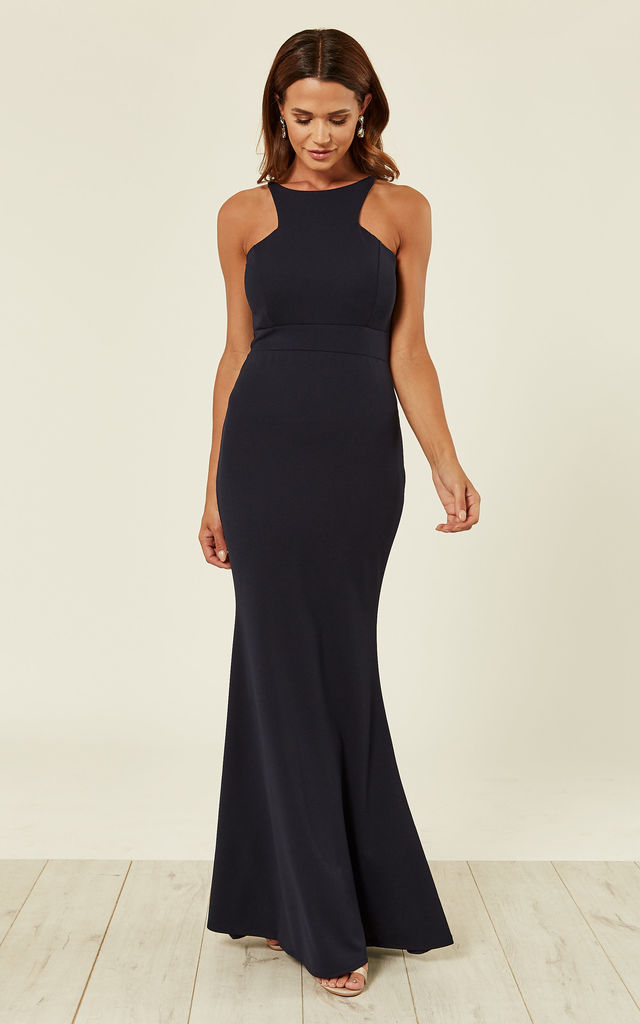 ea3ea221c7c Elegant Navy Maxi Evening Dress for Weddings and Parties by WalG