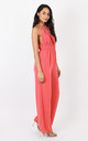 TALL Alisha Coral Jumpsuit by Silver Birch