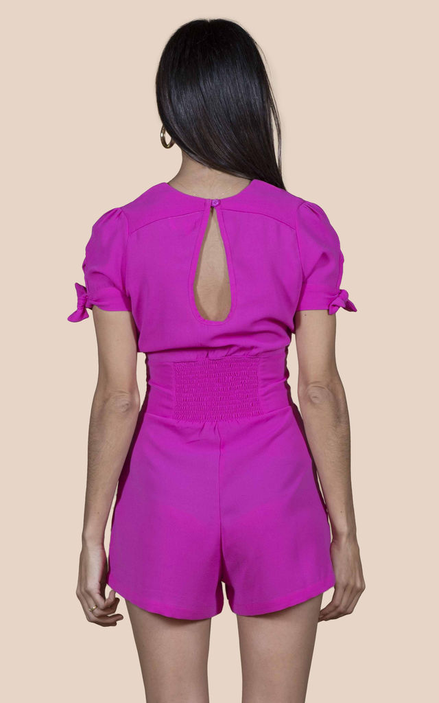 JUNO PLAYSUIT IN HOT PINK image