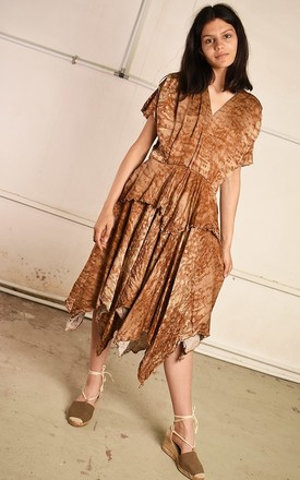 90's retro Boho festival midi draped Paris chic dress by Lover