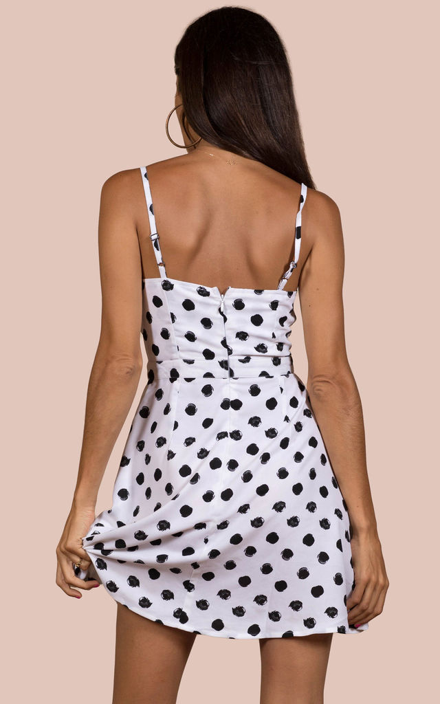 Santa Cruz DRESS IN WHITE DOT image