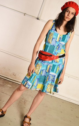 90's retro abstract print mini festival dress by Lover