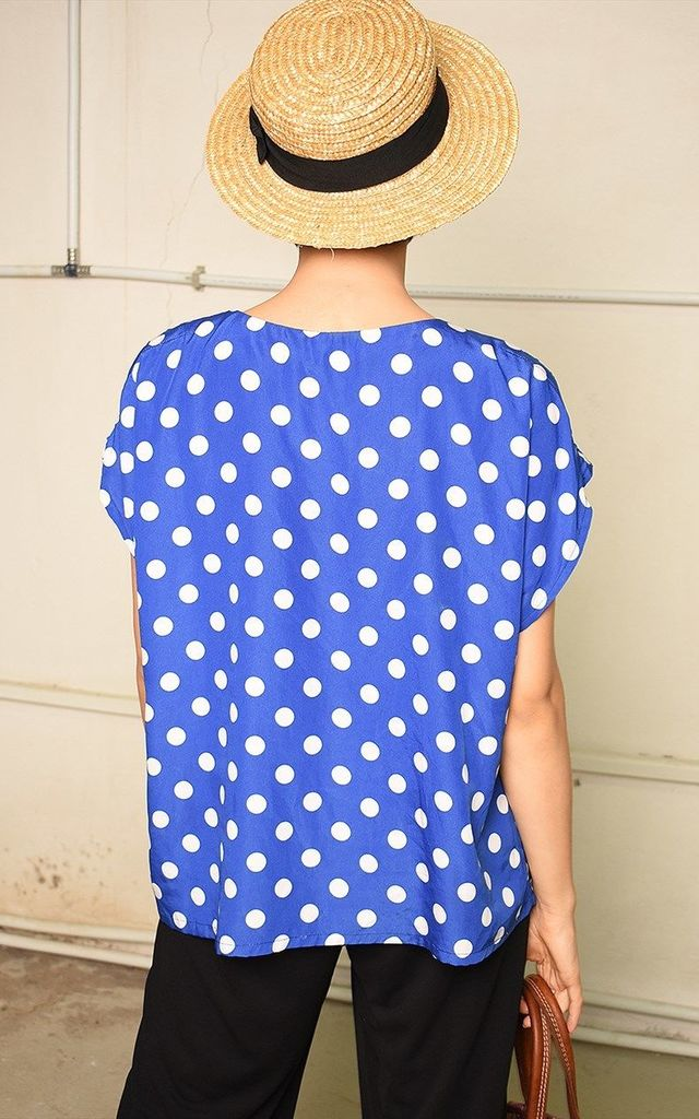 80's retro polka dot festival Paris chic blouse top by Lover