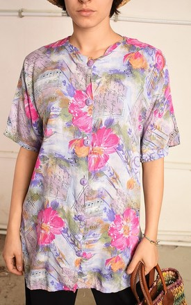 90's retro floral festival Paris chic blouse top by Lover