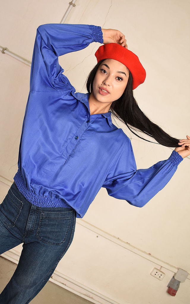 80's retro festival Paris chic oversized blouse top by Lover