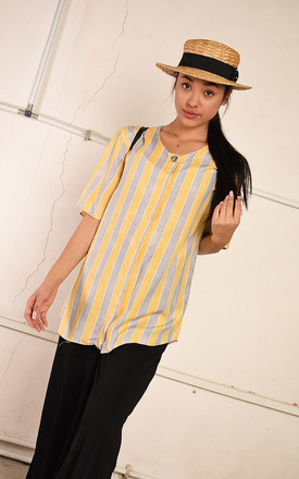 90's retro striped festival Paris chic blouse top by Lover
