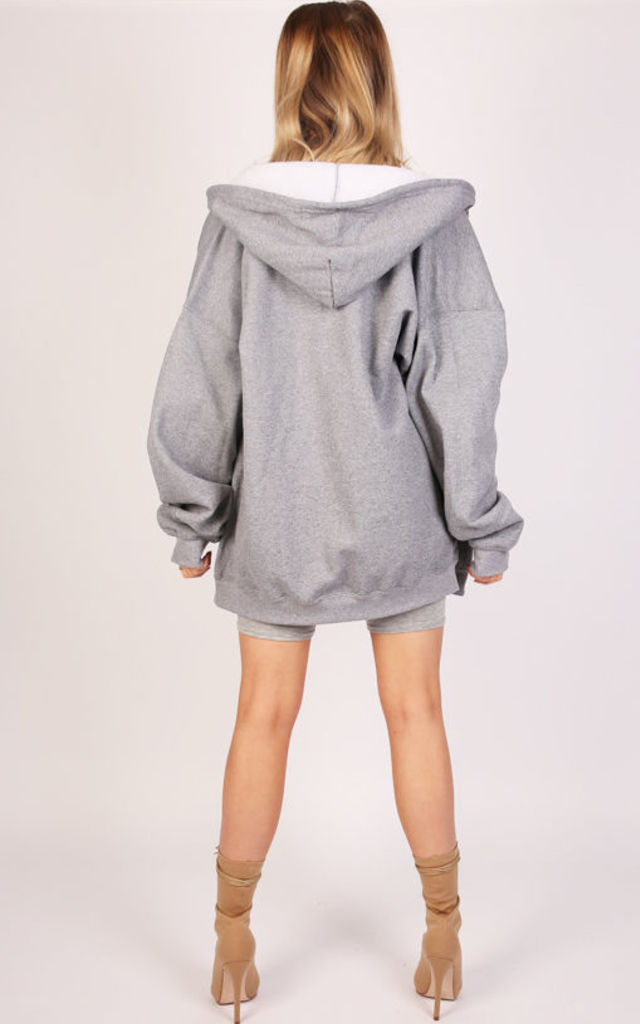 OVERSIZED ZIP THROUGH HOODIE- DUSK by Pharaoh London